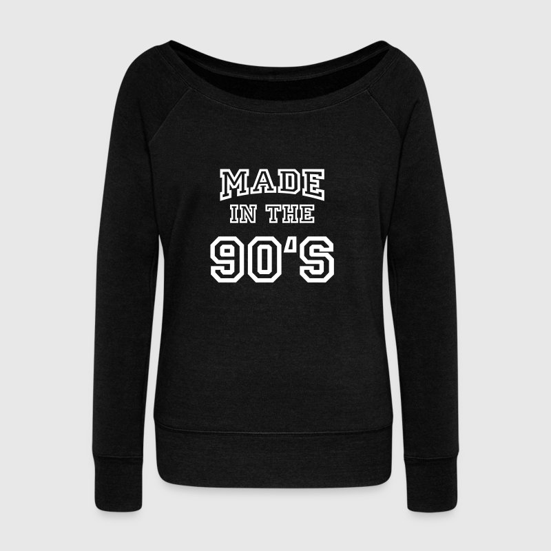 Made in the 90's - Women's Boat Neck Long Sleeve Top