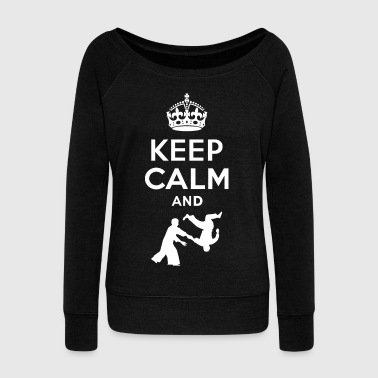 Aikido Keep Calm and aikido - EN - Women's Boat Neck Long Sleeve Top