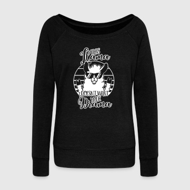 This Llama doesnt want Drama - Lustig-Humor-Tier - Women's Boat Neck Long Sleeve Top