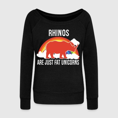 Rhinos -- are just fat Unicorns - Vrouwen trui met U-hals van Bella