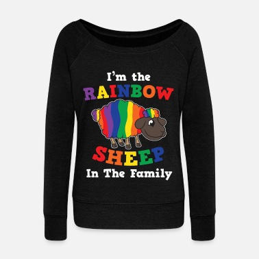 Open LGBT Pride Queer Lesbian Gay Bisexual Gay Tra - Women's Boat Neck Long Sleeve Top