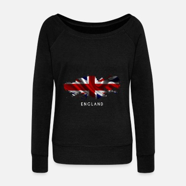 Kingdom Flag England United Kingdom Flag Gift - Women's Boat Neck Long Sleeve Top