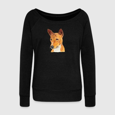 Basenji - Women's Boat Neck Long Sleeve Top