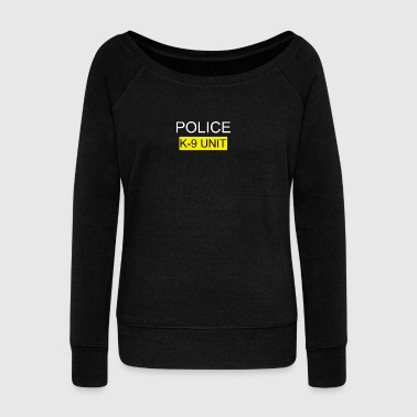 Police Police Police - Women's Boat Neck Long Sleeve Top