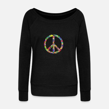 Peace Sign Peace sign - Women's Boat Neck Long Sleeve Top