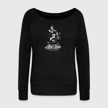 PinUp - Women's Boat Neck Long Sleeve Top
