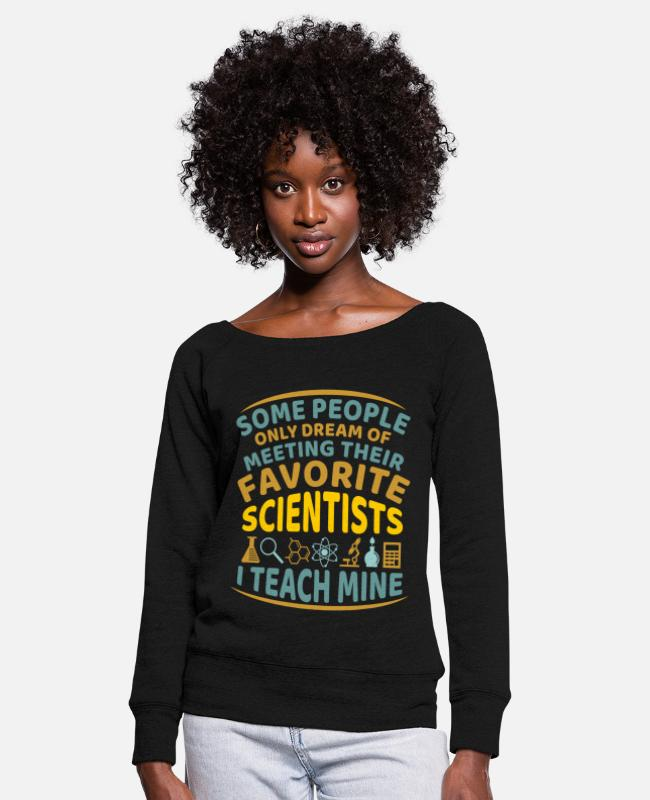 Gift Shirts met lange mouwen - Science Teacher Science Teacher Saying - Vrouwen U-hals longsleeve zwart