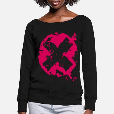 cross - Women's Wide-Neck Sweatshirt