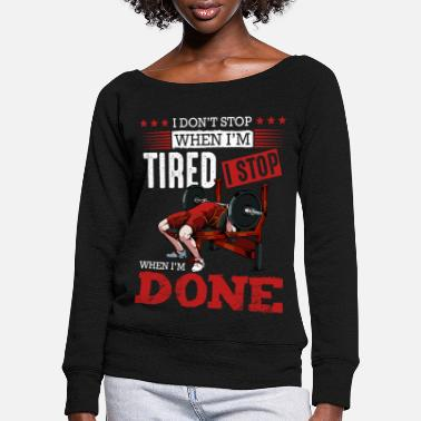 Body Builder body builder - Women's Wide-Neck Sweatshirt