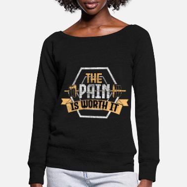Wretch Bench press workout gift - Women's Wide-Neck Sweatshirt