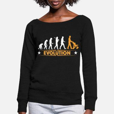 Dad Walking Dad - Evolution - Sweatshirt med ubåds-udskæring dame