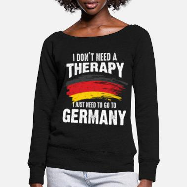 Federal States Germany therapy country federal states gift - Women's Wide-Neck Sweatshirt