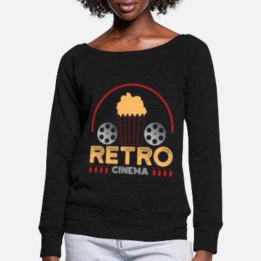 Visit The Cinema retro cinema - Women's Wide-Neck Sweatshirt
