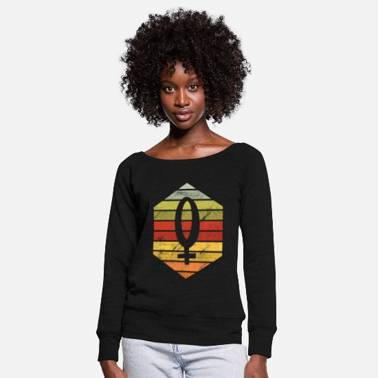 Feminist Long Sleeve Shirts - International Women's Day March 8 holiday - Women's Wide-Neck Sweatshirt black
