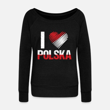 Central Europe Poland Warsaw Polish Central Europe Country Gift - Women's Wide-Neck Sweatshirt