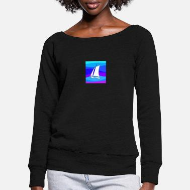Sailboat - Women's Wide-Neck Sweatshirt