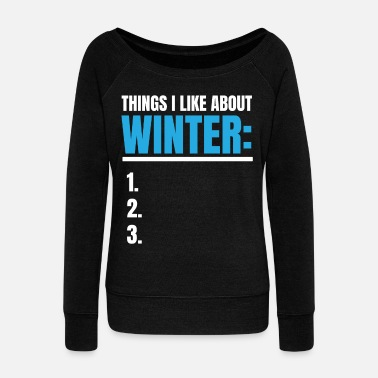 December Spreadshirt T-shirt | Winterhass Winterspeck - Vrouwen U-hals longsleeve