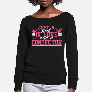 Conductor Maestro Orchestra Choir Conduct Gift - Women's Wide-Neck Sweatshirt