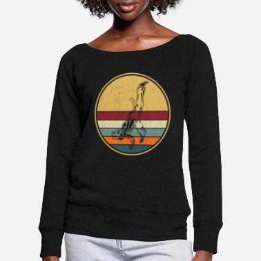 Roda Retro Capoeira Fight Dance Roda Brazil Martial Arts - Women's Wide-Neck Sweatshirt