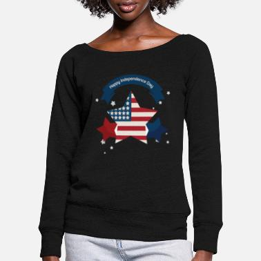 Independance Day Independence Day - Independence Day Gift - Women's Wide-Neck Sweatshirt