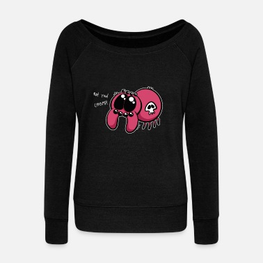 Chomp Eat You Chomp - Women's Wide-Neck Sweatshirt