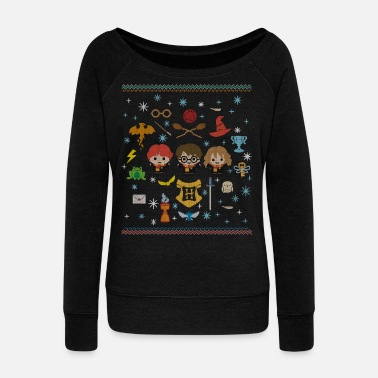 Harry Potter Harry Potter Ugly Christmas Chibi Design - Frauen Pullover mit U-Ausschnitt