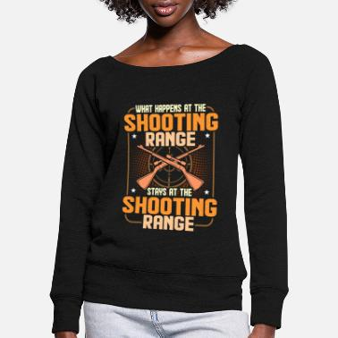 Shooting Club Shooting club - Women's Wide-Neck Sweatshirt
