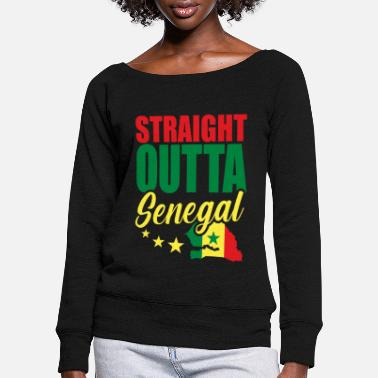 Travel Senegal Africa Gift Idea - Women's Wide-Neck Sweatshirt