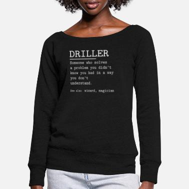 Driller DRILLER - Women's Wide-Neck Sweatshirt