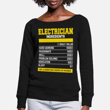 Weld Stylish Electrician Ingredients T-Shirt - Frauen Pullover mit U-Ausschnitt