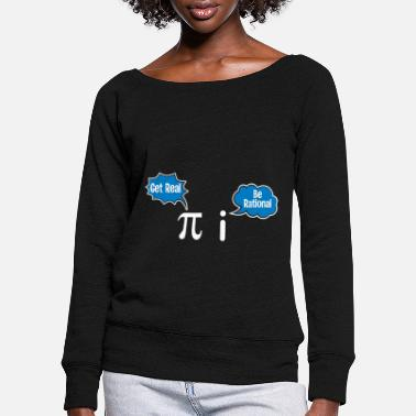 Percentage Calculation Pi & Imaginary Number - Math Math Teacher - Women's Wide-Neck Sweatshirt