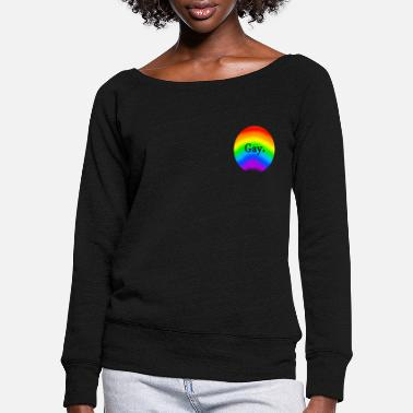 Gay Pride Gay Pride - Women's Wide-Neck Sweatshirt