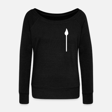paint brush symbol - Women's Wide-Neck Sweatshirt
