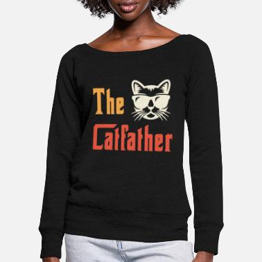 Cat Lady De Catfather - Vrouwen U-hals longsleeve