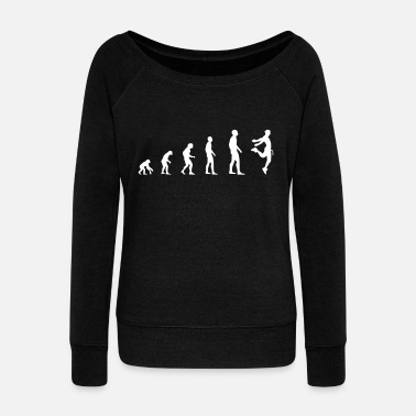 Male Dancer Dancer Male - Evolution - Women's Wide-Neck Sweatshirt