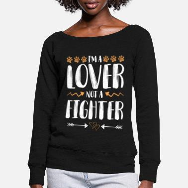 Raw Food Diet Animal rights activists love fighters - Women's Wide-Neck Sweatshirt