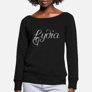 Name Day Lydia name first name name day - Women's Wide-Neck Sweatshirt