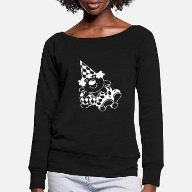 Clown clown - Women's Wide-Neck Sweatshirt