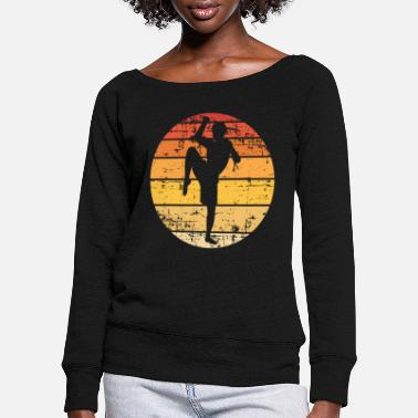Martial Artist martial artists - Women's Wide-Neck Sweatshirt