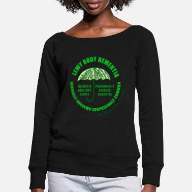 Lewy Body Dementia - Women's Wide-Neck Sweatshirt
