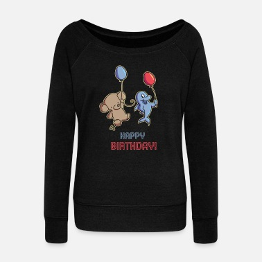 Birthday Present birthday present - Women's Wide-Neck Sweatshirt