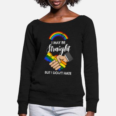 Anti Right Human Rights Tolerance Anti-racism - Women's Wide-Neck Sweatshirt