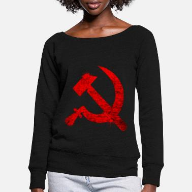 Communism communism - Women's Wide-Neck Sweatshirt