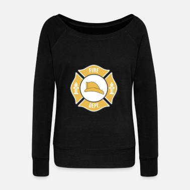 Fire Department Fire Department - Fire Department - Women's Wide-Neck Sweatshirt