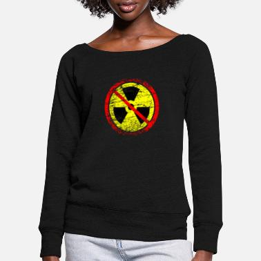 Castor Transport Anti nuclear power nuclear power plants nuclear waste nuclear energy - Women's Wide-Neck Sweatshirt