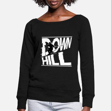 Downhill Downhill - Women's Wide-Neck Sweatshirt