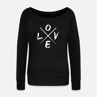Love Love Tolerance LGBT Party Declaration of Love - Women's Wide-Neck Sweatshirt