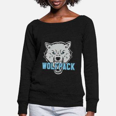 Wolfpack WOLFPACK SHOP - Women's Wide-Neck Sweatshirt