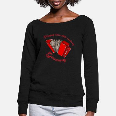 Instrument Germany instrument music - Women's Wide-Neck Sweatshirt