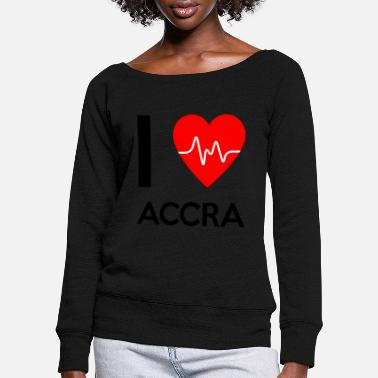 Accra I Love Accra - I love Accra - Women's Wide-Neck Sweatshirt